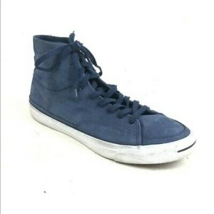 Converse Jack Purcell Mens Suede Hi Top Shoes